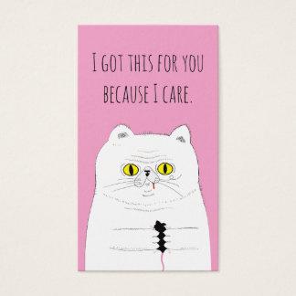 Mini chat de paquet de carte de Saint-Valentin