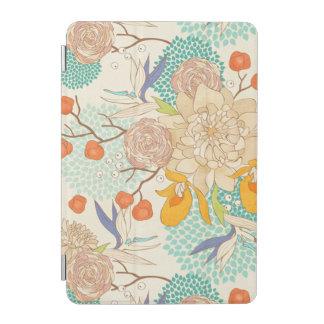 Mini couverture de pivoine de fleur d'iPad rose Protection iPad Mini