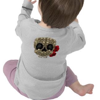 Mini crâne de sucre de squelettes t-shirt