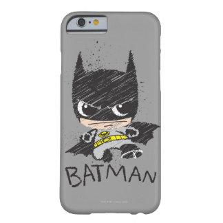 Mini croquis classique de Batman Coque Barely There iPhone 6