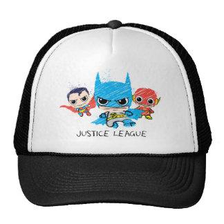 Mini croquis de ligue de justice casquettes de camionneur