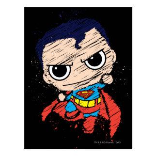 Mini croquis de Superman - vol Cartes Postales