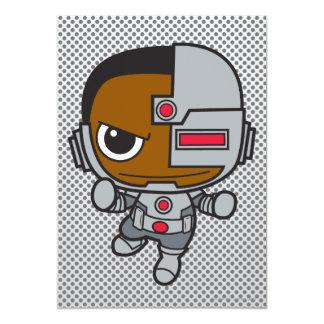 Mini cyborg carton d'invitation  12,7 cm x 17,78 cm