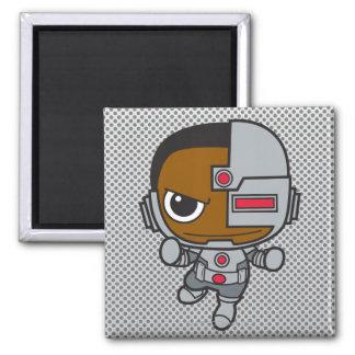 Mini cyborg magnet carré