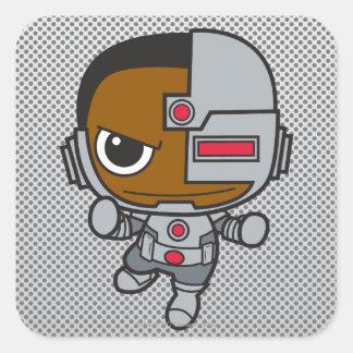 Mini cyborg sticker carré