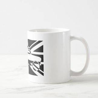 Mini drapeau classique noir et blanc des syndicats mug