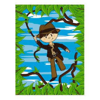 Mini explorateur sur la carte postale de vigne de