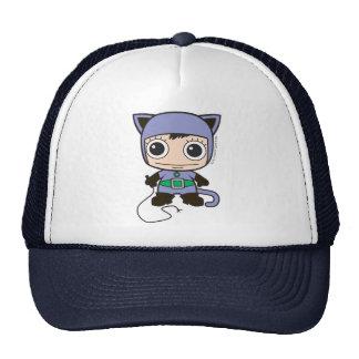 Mini femme de chat casquette