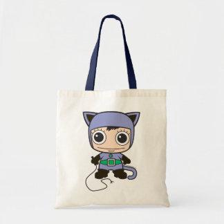 Mini femme de chat tote bag