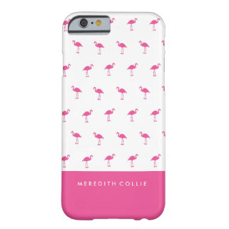 Mini flamant rose personnalisé coque iPhone 6 barely there