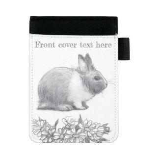 Mini Padfolio Pelucheux le lapin. Dessin au crayon