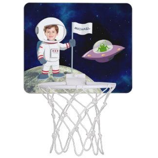 Mini-panier De Basket Astronaute fait sur commande de photo sur la lune