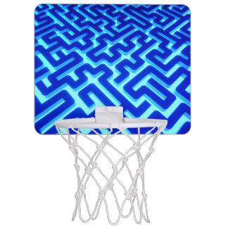 Mini-panier De Basket Bleu de labyrinthe
