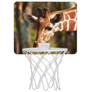 Mini-panier De Basket Brown mignon et portrait blanc de visage de girafe