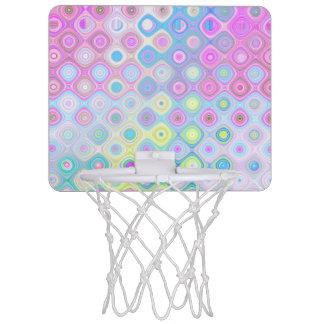 Mini-panier De Basket Cercles psychédéliques