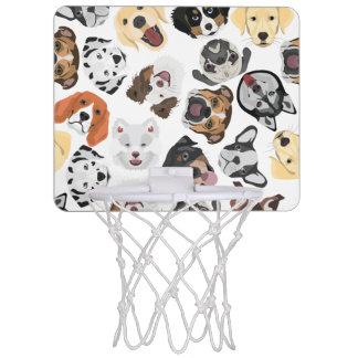 Mini-panier De Basket Chiens de motif d'illustration