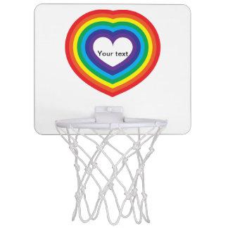 Mini-panier De Basket Coeur d'arc-en-ciel