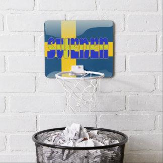 Mini-panier De Basket Drapeau brillant suédois