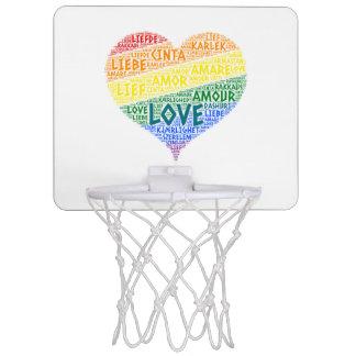 Mini-panier De Basket Drapeau de foyer d'arc-en-ciel de LGBT illustré