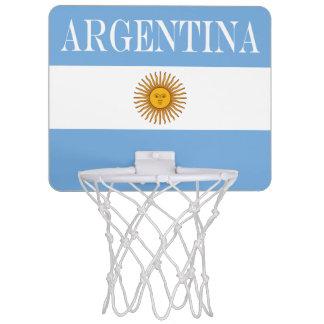 Mini-panier De Basket Drapeau de l'Argentine