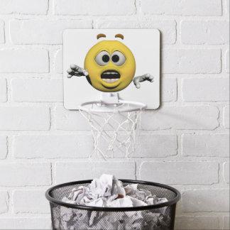 Mini-panier De Basket Émoticône jaune ou smiley de crainte