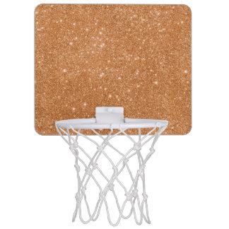 Mini-panier De Basket Étincelles oranges brûlées de scintillement