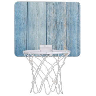 Mini-panier De Basket Le bois bleu patiné rustique embarque la texture