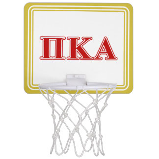Mini-panier De Basket Lettres rouges de Kappa de pi alpha