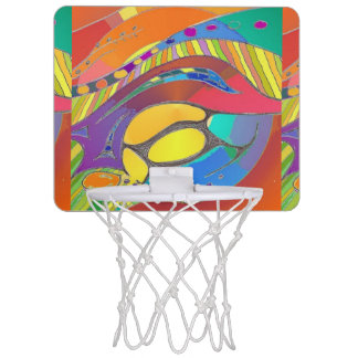 Mini-panier De Basket Mini cercle de basket-ball d'art original