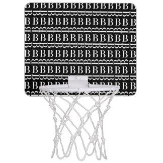 Mini-panier De Basket Motif d'initiale de monogramme, lettre B dans le