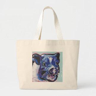 Mini peinture d'art de bruit d'animal familier de grand tote bag