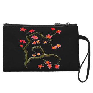 Mini-pochette Accent rose rouge de fleurs de cerisier
