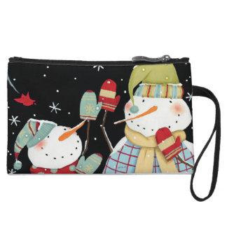 Mini-pochette Bonhommes de neige modernes avec des mitaines