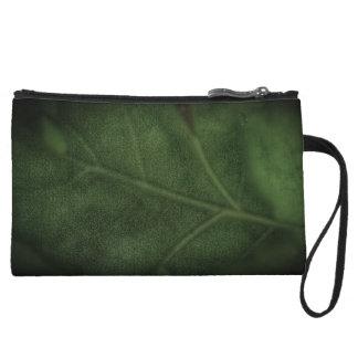 Mini-pochette Bracelet vert de feuille