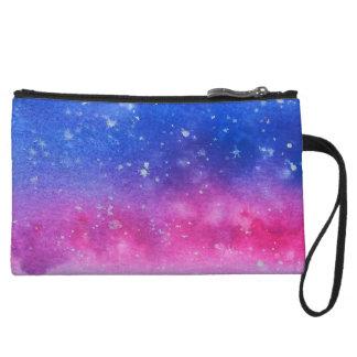 Mini-pochette Couleur pour aquarelle de galaxie
