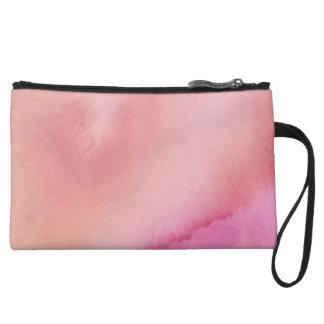 Mini-pochette Couleur pour aquarelle de marbre rose