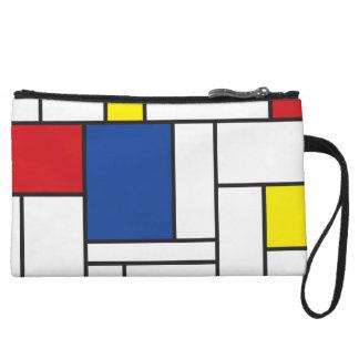 Mini-pochette Embrayage minimaliste d'art moderne de Mondrian de