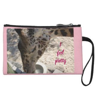 Mini-pochette Je sens le joli embrayage de girafe