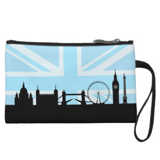 Mini-pochette Londres situe l'horizon et l'Union Jack
