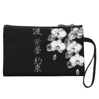 Mini-pochette Orchidées japonaises dans le noir