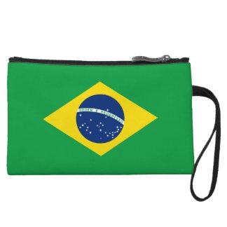 Mini-pochette Portefeuille de bracelets de drapeau du Brésil