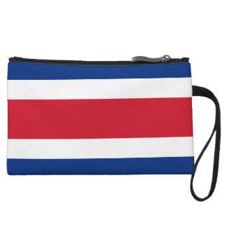 Mini-pochette Portefeuille de bracelets de drapeau du Costa Rica
