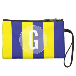 """Mini-pochette Simili Daim Bracelet nautique maritime de drapeau de """"G"""""""