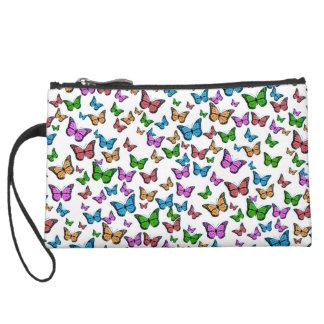 Mini-pochette Simili Daim Conception de motif de papillons