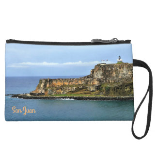 Mini-pochette Simili Daim EL Morro gardant l'entrée de baie de San Juan