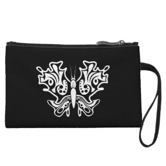 Mini-pochette Tatouage de papillon noir et blanc