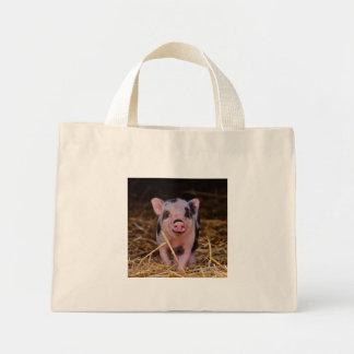 mini porc mini tote bag