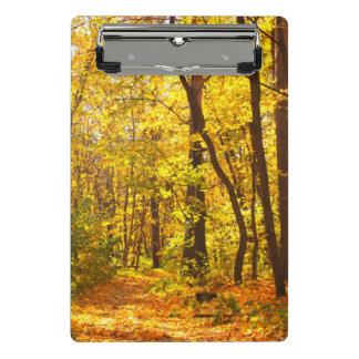Mini Porte-bloc Beau paysage - route dans la forêt d'automne