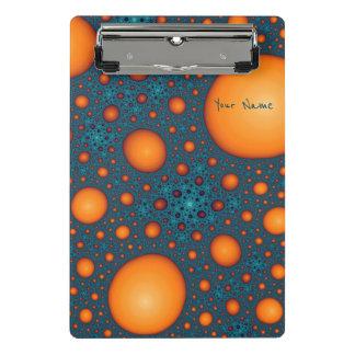 Mini Porte-bloc Bulles oranges. Ajoutez votre texte de nom ou de