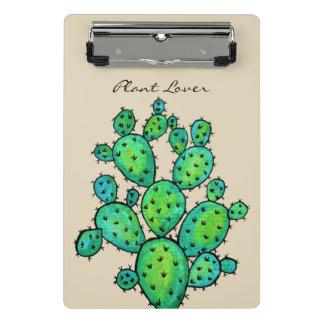 Mini Porte-bloc Cactus magnifique d'aquarelle dans le beau pot